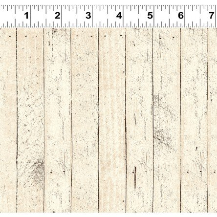Snow Much Fun - Light Khaki Wooden Board Fabric