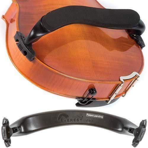Everest Black EZ Series 15 - 16.5 Viola Adjustable Shoulder Rest