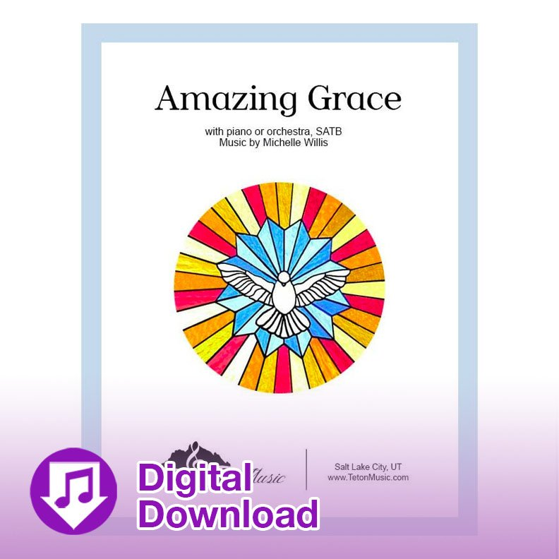 Amazing Grace-SATB (with piano)