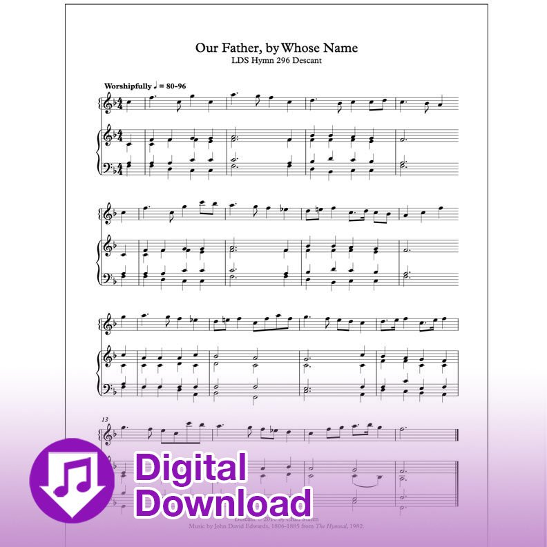 Our Father, By Whose Name (Descant)