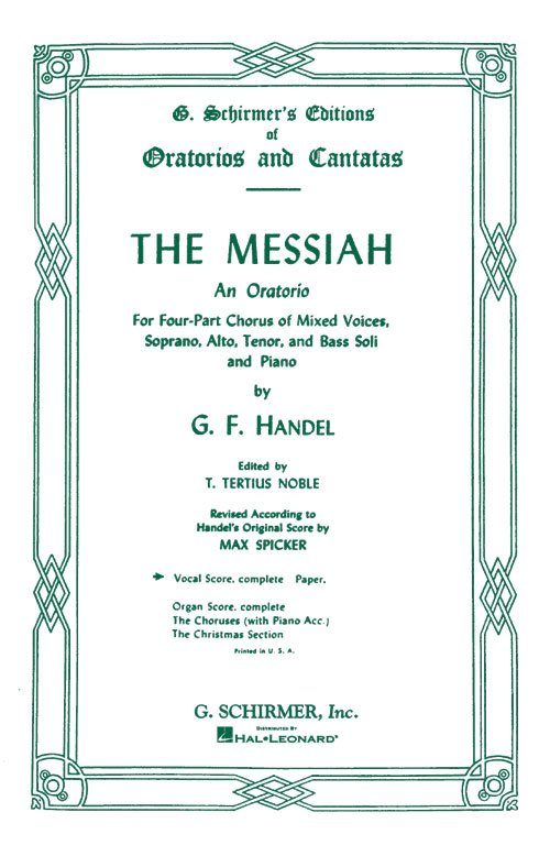 Handel's Messiah-Vocal Score