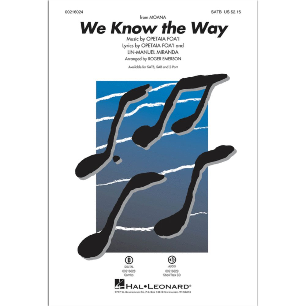 We Know the Way from Moana (SATB)