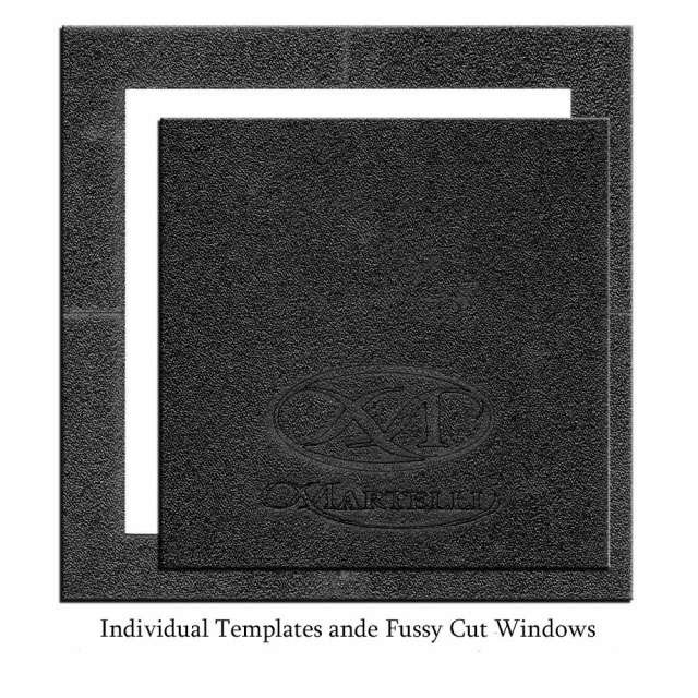 10 Square Template and Fussy Cut Window Set - Martelli
