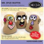 Mr. Spud Muffin Embroidery CD +SVG Files