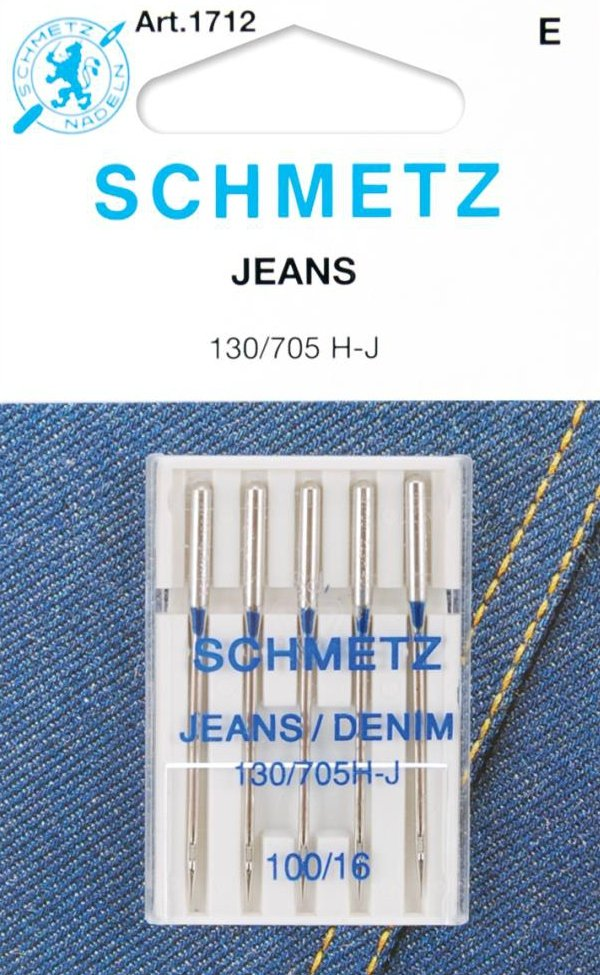 Machine Needles : Jeans Denim - 16