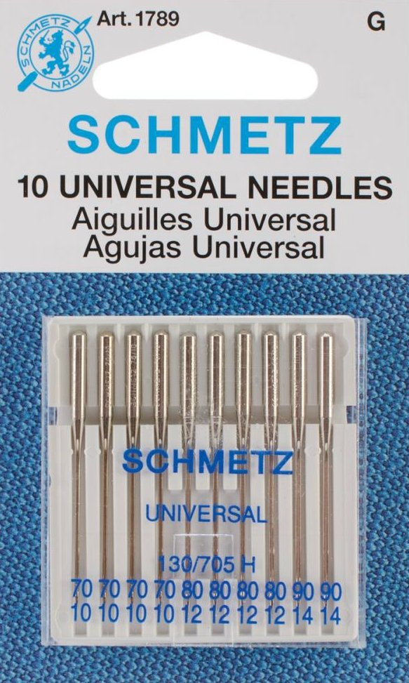 Machine Needles : Universal 10pk - 10/12/14