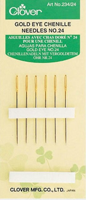 Handsewing Needles : Clover Chenille Gold - 24