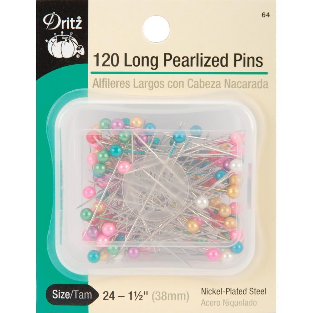 Pins : Long Pearlized - Sz 24 (1.5) - Multi