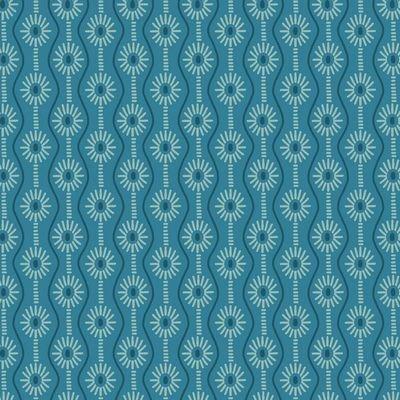 Jacquard Knit : Avalana Organic - Daisies (Blue)