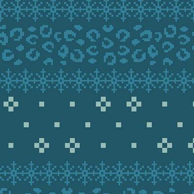 Jacquard Knit : Avalana Organic - Spots (Dk Blue)