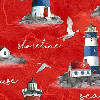 QC : Atlantic Shore - Lighthouses (Red)