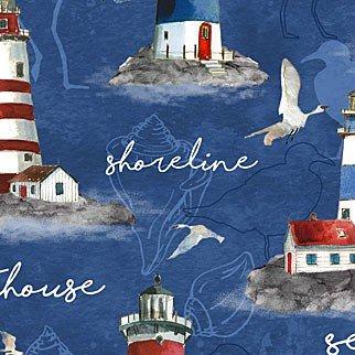 QC : Atlantic Shore - Lighthouses (Blue)