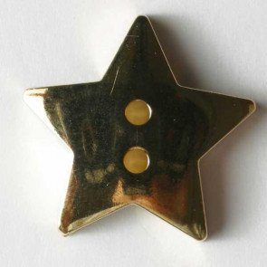 Button : Star 2 Hole - 15mm