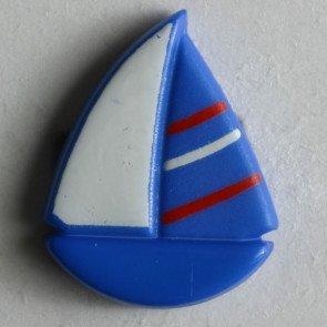 Novelty Button : Sailboat - 18mm