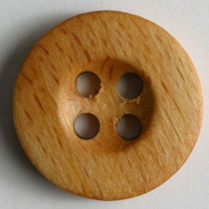 Button : Wooden 4 Hole - 25mm