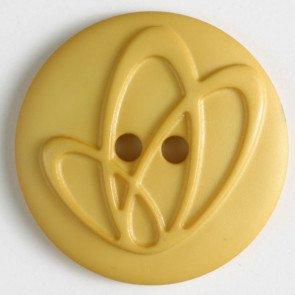 Button : Raised Oval Swirls - 20mm