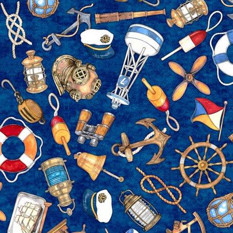 QC : Smooth Sailing - Nautical Toss (Navy)