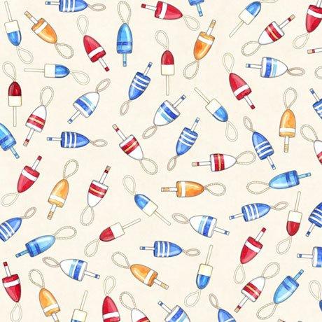 QC : Smooth Sailing - Buoys (Cream)