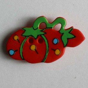 Novelty Button : Tomato Pinchush - 25mm