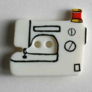 Novelty Button : Sewing Machine - 25mm