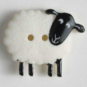 Novelty Button : Sheep - 28mm