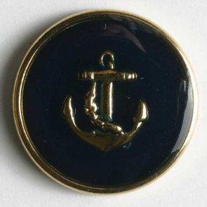 Button : Enamel Anchor - 18mm