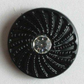 Button : Rhinestone Swirl Frame - 11mm