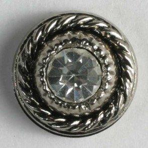 Button : Rhinestone Rope Frame - 11mm