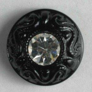 Button : Rhinestone Scrol Shank - 11mm