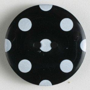Button : Polka Dot 2 Hole - 25mm