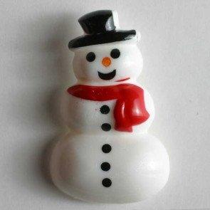 Novelty Button : Snowman - 28mm