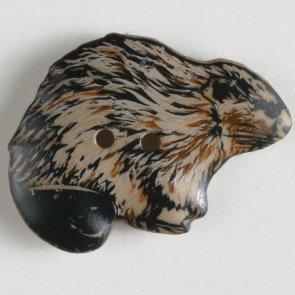 Novelty Button : Beaver - 28mm