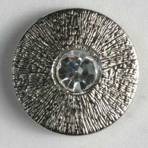 Button : Rhinestone Etched - 18mm