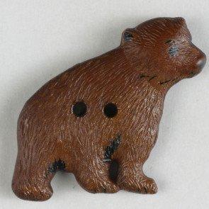 Novelty Button : Bear - 32mm
