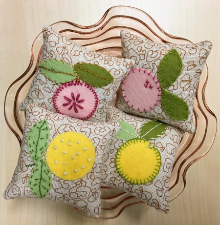 felt applique pincushion