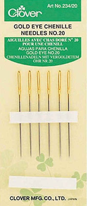 Handsewing Needles : Clover Chenille Gold - 20