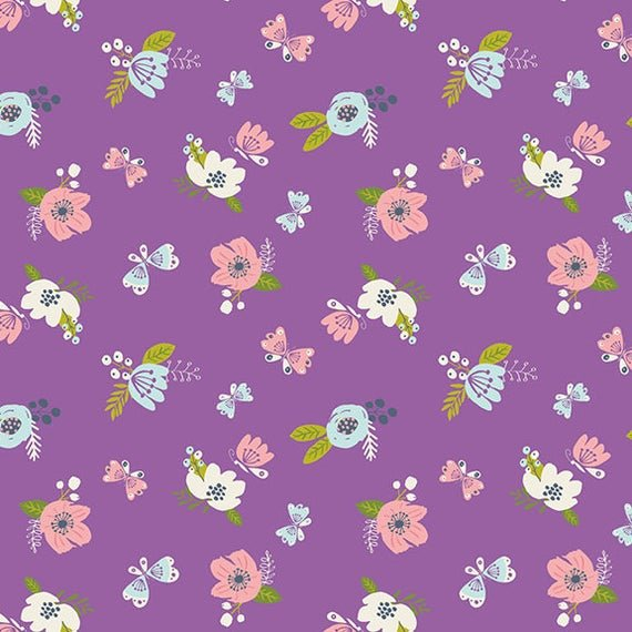Flannel Prints : I Believe in Unicorns - Flowers (Orchid)
