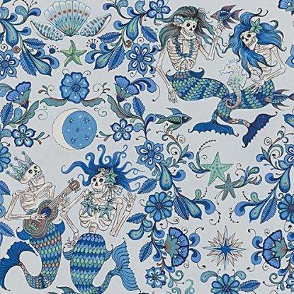 QC : Folklorico - Esqueletos del Mar (Lt Blue)