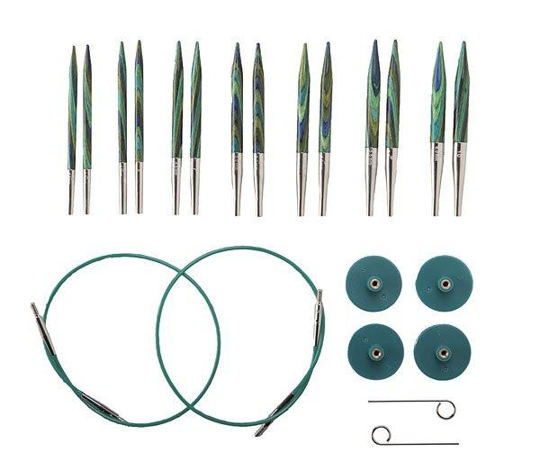 Set - SHORT Tips Interchangeable Needles : 16 Cables
