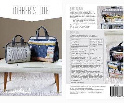 Maker's Tote Bag Pattern