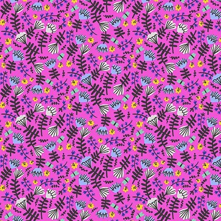 Lawn Print : Hello Lucky! (Hot Pink)