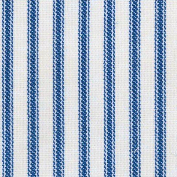 Canvas Ticking - Blue/Cream