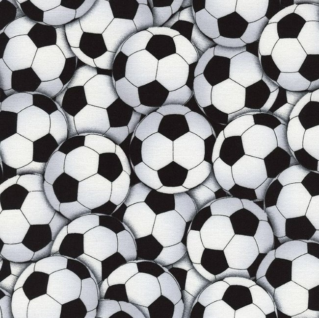 QC : Packed Soccer Balls (White)