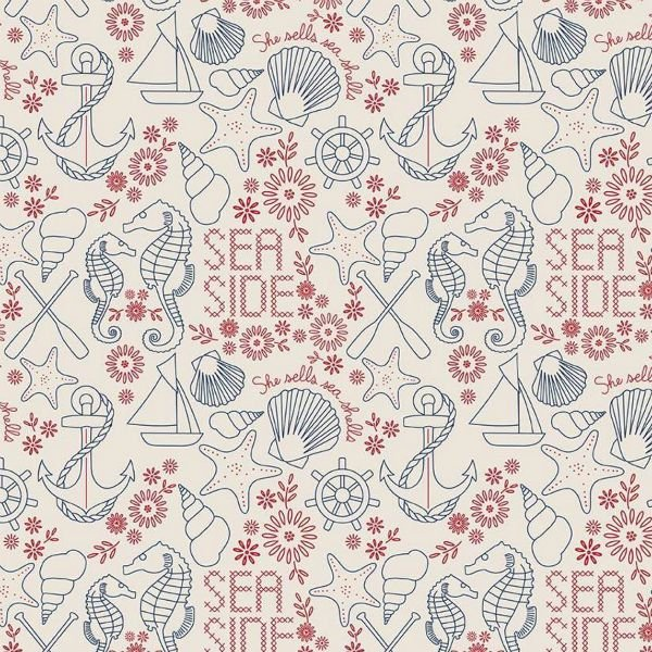 QC : Go to the Sea with Harry & Alice - Stitchery (Cream)