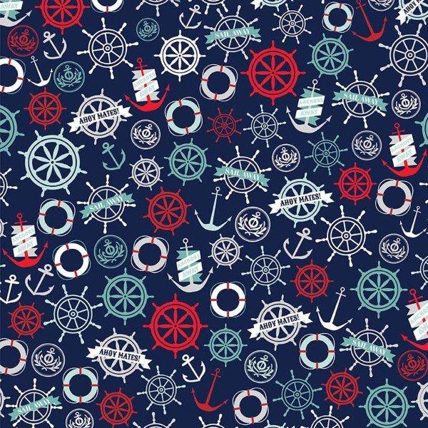QC : Deep Blue Sea - Anchors (Navy)