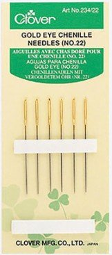 Needles : Clover Embroidery Chenille Gold - 22