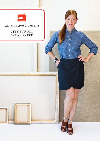 City Stroll Wrap Skirt Pattern