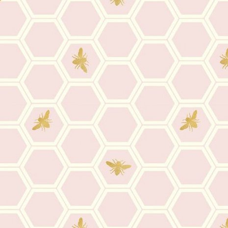 Organic Canvas : Honey Comb - Metallic Blush