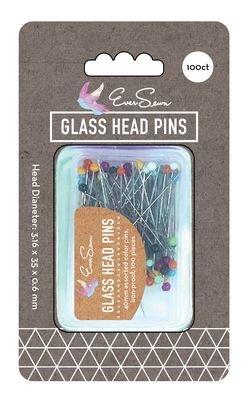 Pins : Glass Head - 1-9/16 100ct