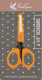 Scissors : Mini Micro-Serrated - 4.5